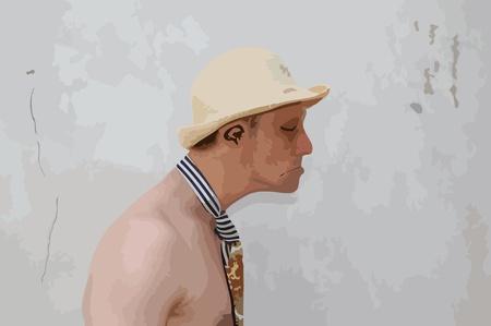 Watercolor fashionable man. Stock Vector - 13717324