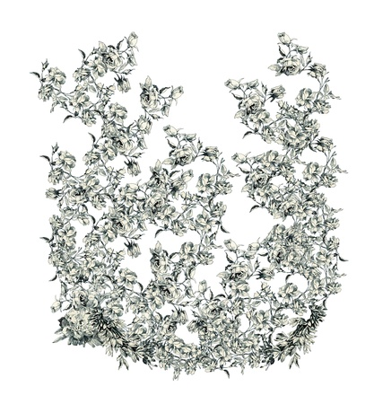 Capital letter U from flowers Vector
