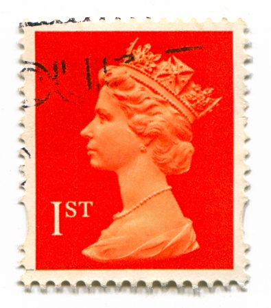 constitutional: UK-CIRCA 1960:A stamp printed in UK shows image of Elizabeth II is the constitutional monarch of 16 sovereign states known as the Commonwealth realms, head of the 54-member Commonwealth of Nations, in red, circa 1960.
