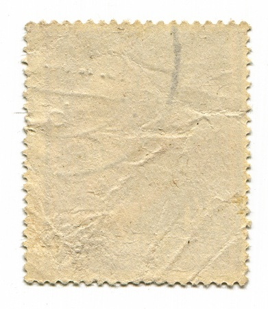 postage stamp: The reverse side of a postage stamp.