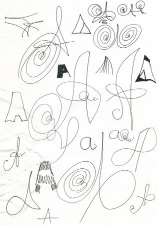 garabatos: Abstracci�n. Foto de archivo