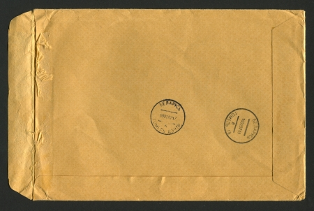 Post envelope, background. photo