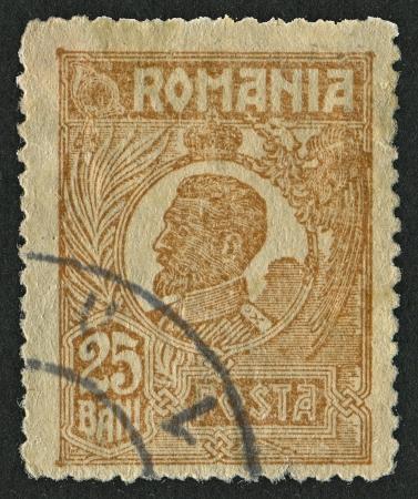 philatelist: RUM�NIEN - CIRCA 1921: Briefmarken gewidmet Ferdinand (1861 - 1948), bulgarischen Zaren, Botaniker, Entomologe und Philatelist, circa 1921. Editorial