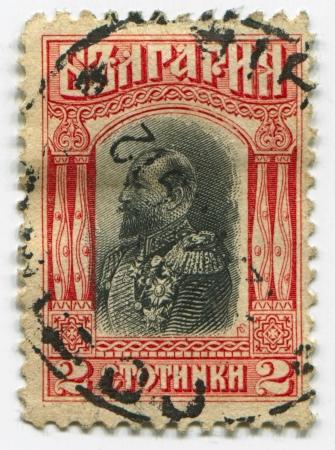 philatelist: BULGARIEN - CIRCA 1911: Briefmarken in Bulgarien gedruckt gewidmet Ferdinand (1861 - 1948), Bulgarian Knyaz, Zar, Autor, Botaniker, Entomologe und Philatelisten, circa 1911.