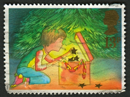 UK - CIRCA 1987: A stamp printed in UK shows image of Christmas, circa 1987.