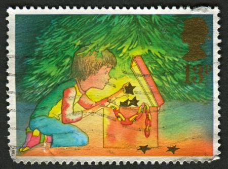 UK - CIRCA 1987: A stamp printed in UK shows image of Christmas, circa 1987.