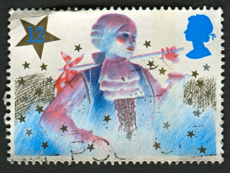 mediaval: UK - CIRCA 1985: A stamp printed in UK shows image of The Christmas, circa 1985.