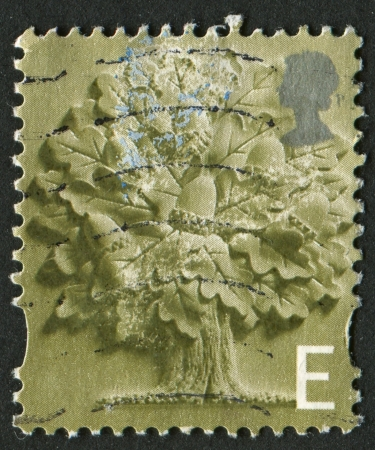 mediaval: UK - CIRCA 2001: A stamp printed in UK shows image of the Oak Tree, circa 2001. Editorial