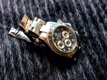 GOMEL, BELARUS - AUGUST 31, 2014: J. HARRISON J.H-014DS wristwatch. J. HARRISON this Japanese watch company.