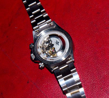 GOMEL, BELARUS - OCTOBER 30, 2014: J. HARRISON J.H-014DS wristwatch. J. HARRISON this Japanese watch company.