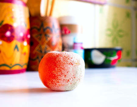 Rotten mandarin orange photo