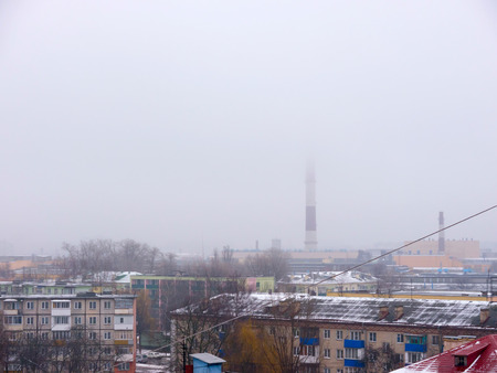 smokestacks: Factory chimneys.