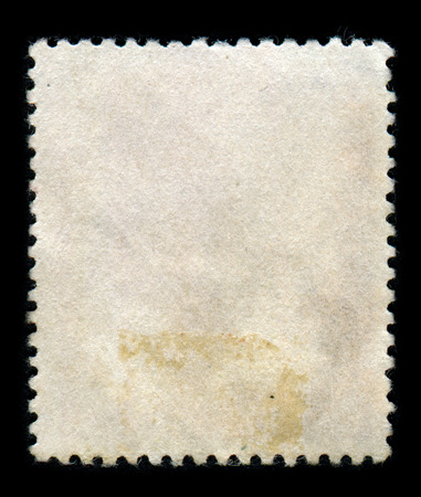 philatelic: The reverse side of a postage stamp.