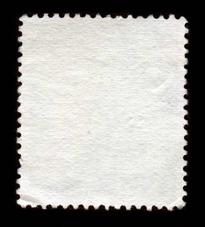 sello postal: El reverso de un sello postal.  Foto de archivo