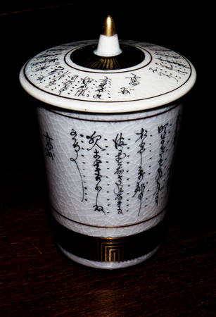 fine china: GOMEL, BELARUS - NOVEMBER 15, 2015: The Japanese porcelain (Kutani). Porcelain (also known as china or fine china) is a ceramic material made by heating materials. Editorial