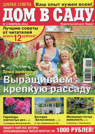 garden stuff: Front Cover of Russian magazine The House in the garden. Editorial