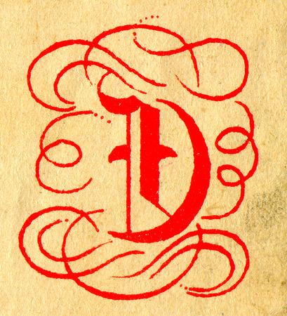 d: Initials letter D.