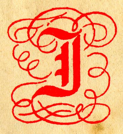 initials: Initials letter J.