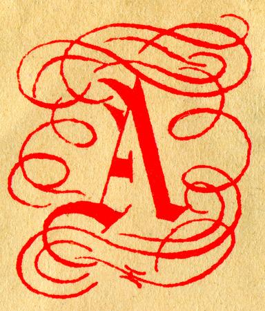initials: Initials letter A.
