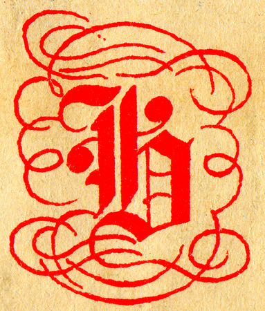 initials: Initials letter B.