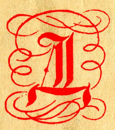 initials: Initials letter D.