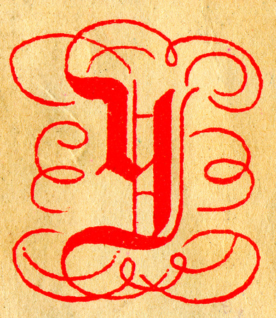 Initials letter Y.