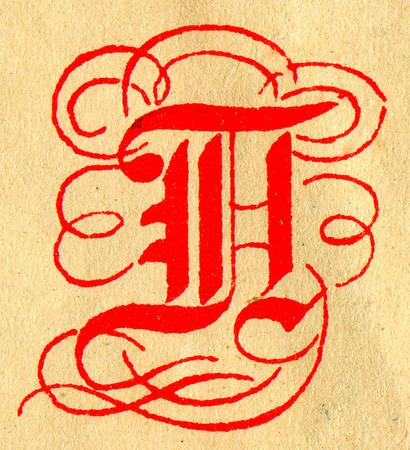 initials: Initials letter H.