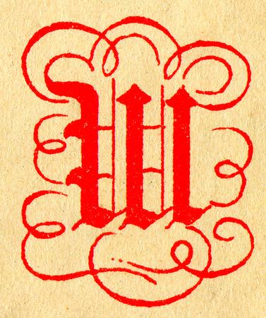 initials: Initials letter W.