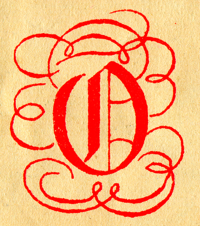 initials: Initials letter O.