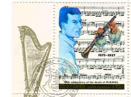 ravel: GOMEL,BELARUS - JANUARY 2016: A stamp printed in       shows image of the    , circa 19  . Editorial
