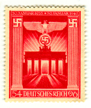 Reich: GOMEL,BELARUS - FEBRUARY 2016: A stamp printed in Germany shows image of the anniversary of the German Reich, circa 1943. Editorial