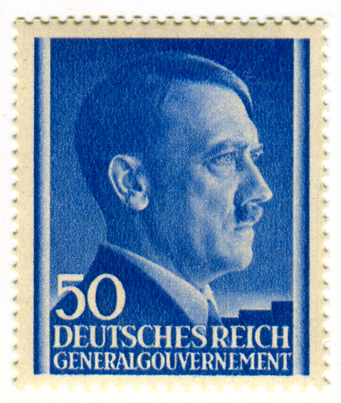 A stamp printed in GERMANY shows image of the Adolf Hitler (20 April 1889 - 30 April 1945) was an Austrian-born German politician who was the leader of the Nazi Party (NSDAP), Chancellor of Germany from 1933 to 1945, and Führer (leader) of Nazi Germany