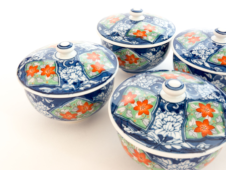 fine china: GOMEL, BELARUS - FEBRUARY 18, 2016: The Japanese porcelain (Imari, Arita). Porcelain (also known as china or fine china) is a ceramic material made by heating materials.