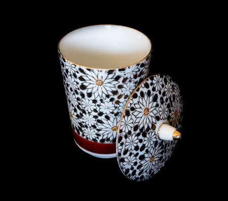 fine china: GOMEL, BELARUS - APRIL 17, 2016: The Japanese porcelain (Kutani). Porcelain (also known as china or fine china) is a ceramic material made by heating materials.