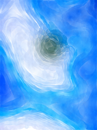 The varicolored paint watercolor Abstract picture. Stock Photo
