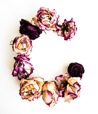 Rose dried Initials letter ?.