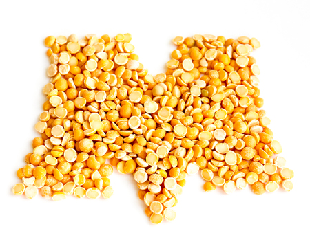 initials: The peas Initials letter M.