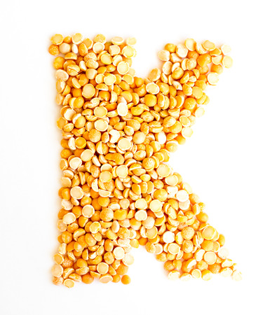 The peas Initials letter K.