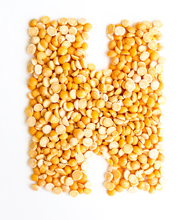 initials: The peas Initials letter H. Stock Photo