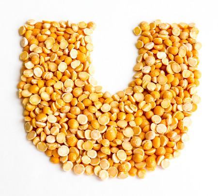 initials: The peas Initials letter U.