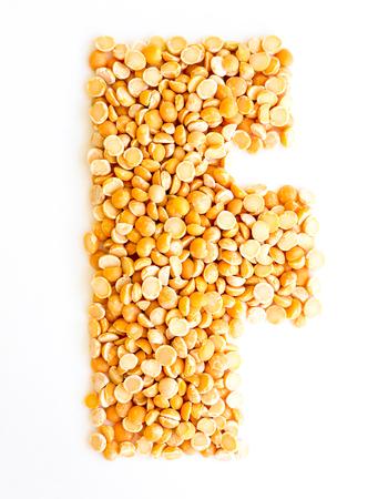 initials: The peas Initials letter F.