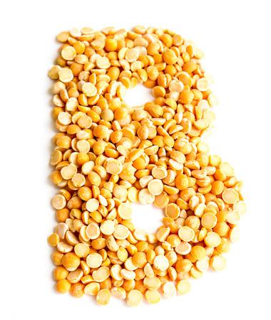 initials: The peas Initials letter B.