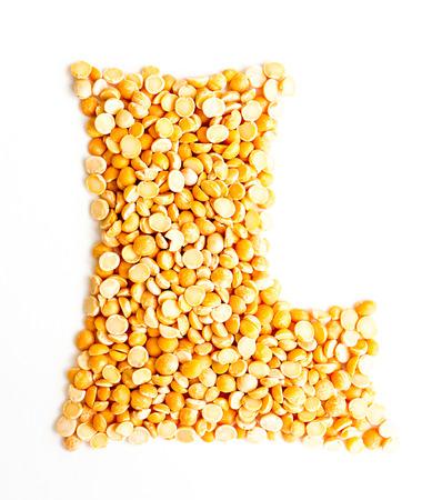 initials: The peas Initials letter L.