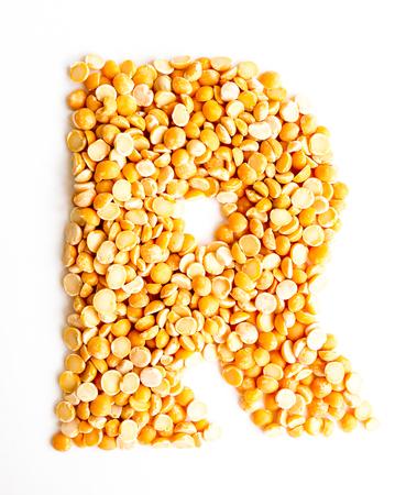 initials: The peas Initials letter R.