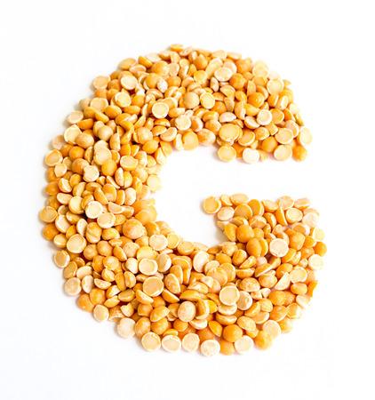 initials: The peas Initials letter G.