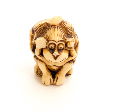pictorial: Japanese netsuke Three wise monkeys, sometimes called the three mystic apes, are a pictorial maxim.