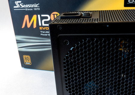 seasonic: GOMEL, BELARUS - September 15, 2016: Power Supply Seasonic M12-2.Sea Sonic Electronics Co., Ltd. is a power supply and computer PSU manufacturer and retailer.