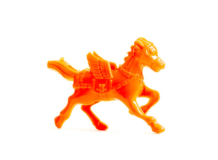 GOMEL, BELARUS - September 13, 2016: Kinder surpise Miniature toy horse, by Ferero. Ferrero SpA  is an Italian manufacturer of branded chocolate.