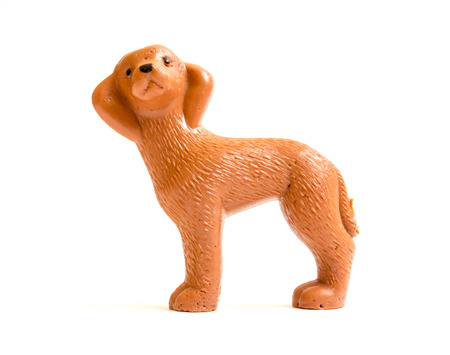soviet union: GOMEL, BELARUS - September 10, 2014: Miniature toy dog, made in Soviet times. Soviet Union was a socialist state on the Eurasian continent that existed between 1922 and 1991.
