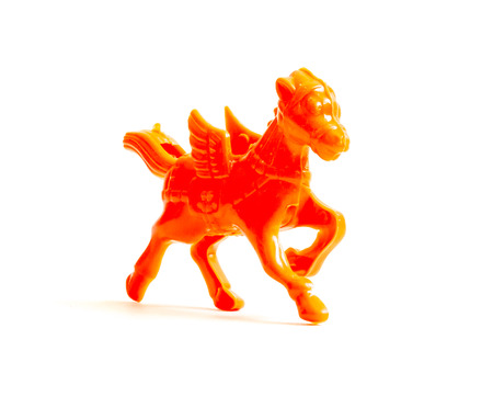 kinder: GOMEL, BELARUS - September 13, 2016: Kinder surpise Miniature toy horse, by Ferero. Ferrero SpA  is an Italian manufacturer of branded chocolate.